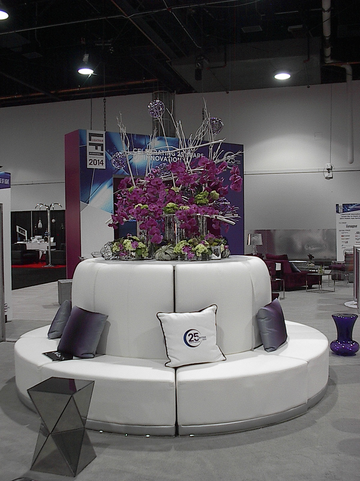 No job is too big, our custom flowers at the Las Vegas Convention Center, approved show florists.